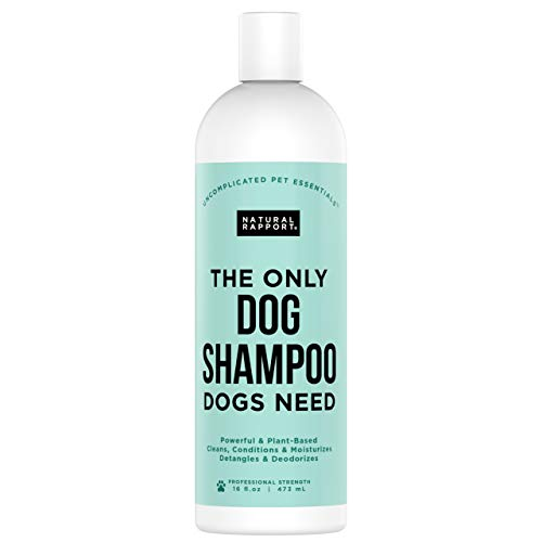 Natural Rapport Pet and Dog Shampoo - Natural Rapport, The Only Dog Shampoo Dogs Need - Complete Wash for Pets, All Breeds (16 fl oz.)