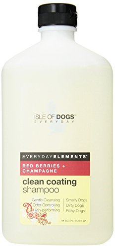 Everyday Isle of Dogs Clean Coating, Red Berries + Champagne Dog Shampoo for Dirty, Filthy and Smelly Dogs, 16.9oz by Isle of Dogs