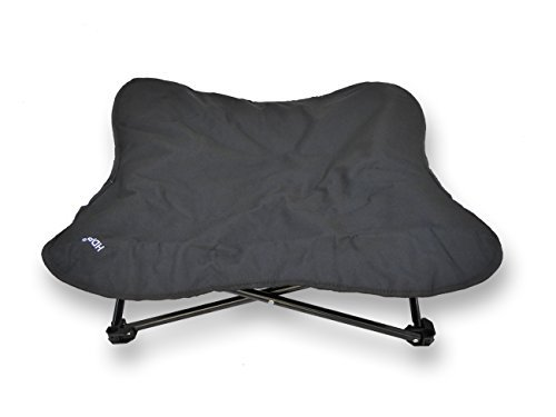HDP Elevated Padded Napper Cot Space Saver Pet Bed Color:Black Size:Large