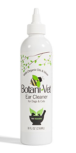 BotaniVet Ear Cleaner 8 Oz - 100% Natural Ingredients - Made with Certified Organic Oils and Silver - Veterinary Dermatologist Formulated for Dogs and...