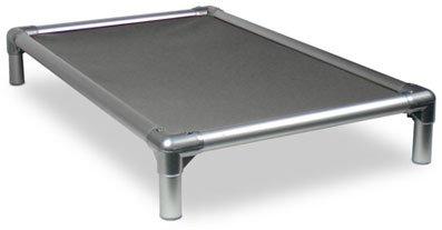 Kuranda All-Aluminum (Silver) Chewproof Dog Bed - Small (30x20) - 40 oz. Vinyl - Smoke