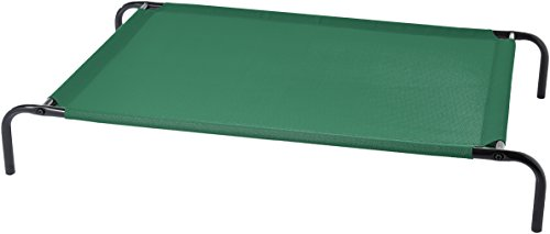 AmazonBasics Cooling Elevated Pet Bed, Large (51 x 31 x 8 Inches), Green