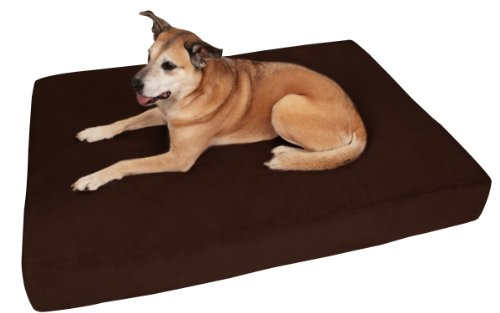Big Barker 7' Pillow Top Orthopedic Dog Bed - Large Size - 48 X 30 X 7 - Chocolate - for Large and Extra Large Breed Dogs (Sleek Edition)
