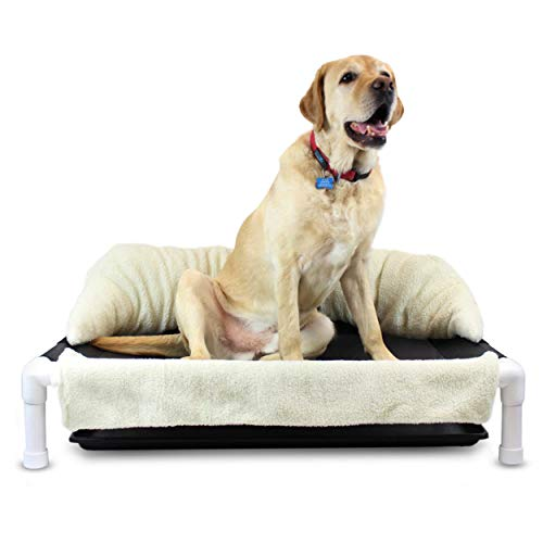Walkin' Wheels Elevated Dog Bed for Incontinent Pets | Rinsable Orthopedic Dog Bed | Soft, Washable Dog Pillow | Easy Assembly | Available in 2 Sizes...