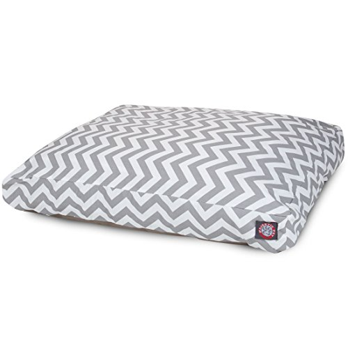 Gray Chevron Extra Large Rectangle Indoor Outdoor Pet Dog Bed With Removable Washable Cover By Majestic Pet Products