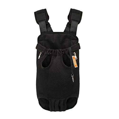 Nicrew legs out front dog backpack
