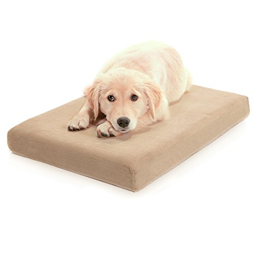 Milliard Premium Orthopedic Memory Foam Dog Bed with Removable Waterproof Washable Non-Slip Cover - Medium - 34 inches x 22 inches x 4 inches