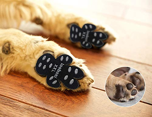 LOOBANI 48 Pieces Dog Paw Protector Traction Pads to Keeps Dogs from Slipping On Floors, Disposable Self Adhesive Shoes Booties Socks Replacement, 12...