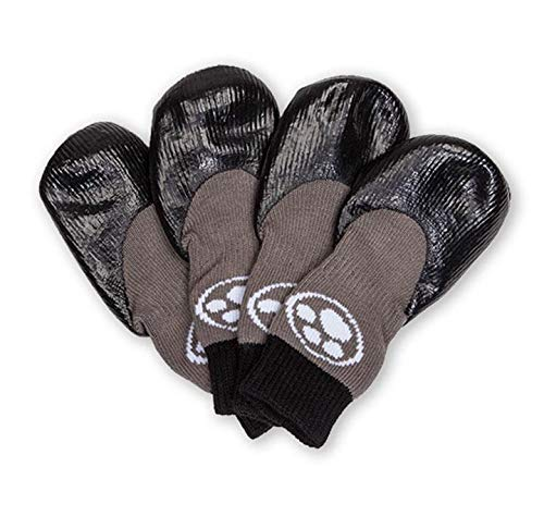 Grippers Non Slip Dog Socks | Traction Control for Indoor Wear | Dog Paw Protection | Non Skid Dog Booties Grip (L)