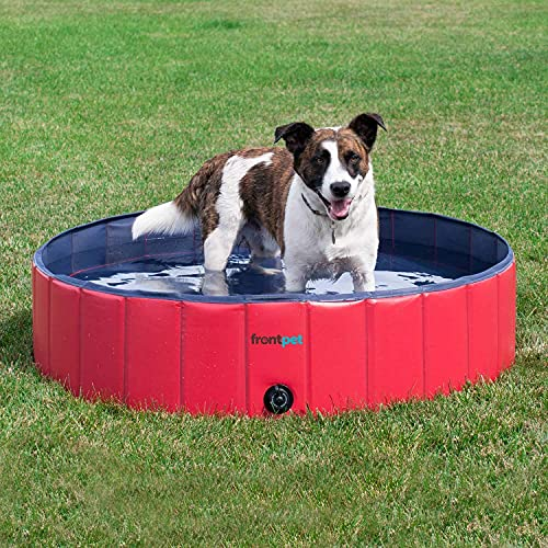 FrontPet Foldable Dog Pool - Collapsible Pet Pool, Bathing Tub and Kiddie Pool, Perfect for Small, for Medium and for Large Dogs (Small - Extra Large)